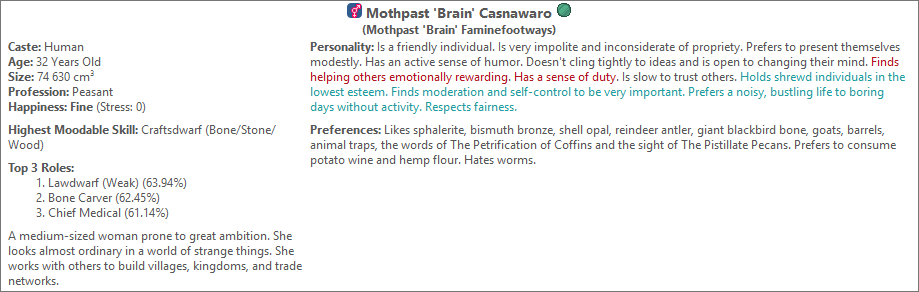 brain in dwarf therapist